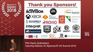 Opening Address: GamesUR US Summit 2018
