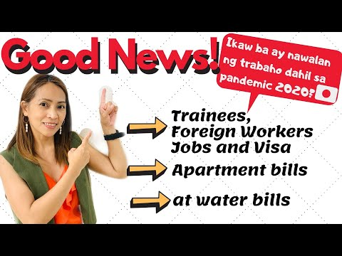 Good news! Trainees and foreign workers! (Tagalog)