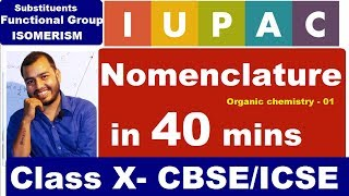 IUPAC - Nomenclature of ORGANIC  Carbon & its compound - Functional groups