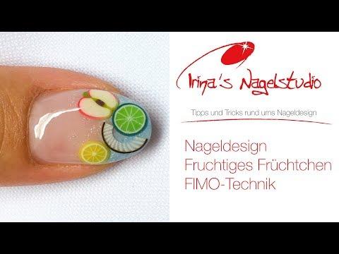 nailart fimo fruits - Nageldesign - Fruchtiges Früchtchen - Fimo Technik bei Irinas Nagelstudio