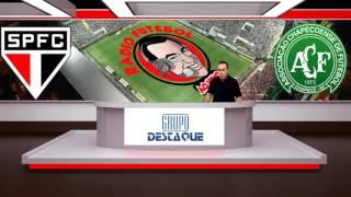 Rádio Futebol Ao Vivo   Chapecoense 2 São Paulo 0   Jarbas Duarte