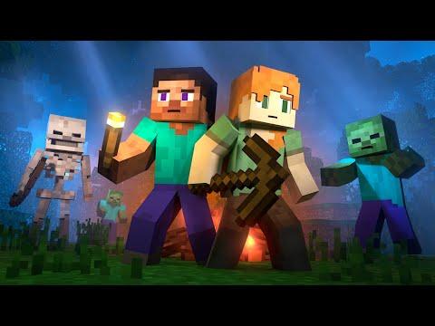 SURVIVAL - Alex and Steve Life (Minecraft Animation) видео