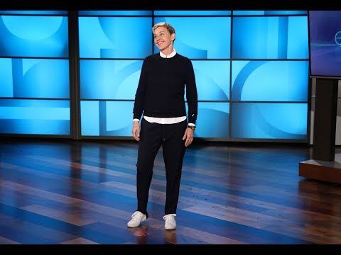 Ellen Has Only an Exercise Bench to Blame for Her Stubbed Toe (видео)