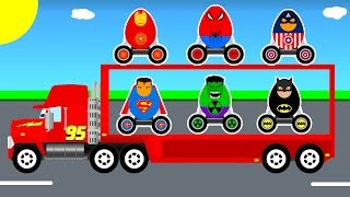 Surprise eggs Mack Truck transportationOther fun videos:Learn colors and numbers with truckhttps://youtu.be/6FecyZ9yhcQHelicopter on truckhttps://youtu.be/zoSpZ6EowlYBus cartoon for childrenhttps://youtu.be/HjsNUXv-VFESport cars transportationhttps://youtu.be/xO1oZ3zGHRcColors and Thomas Trainhttps://youtu.be/iEy7yhkcj5UPolice SUV cars https://youtu.be/2XJ_zQCnuyM