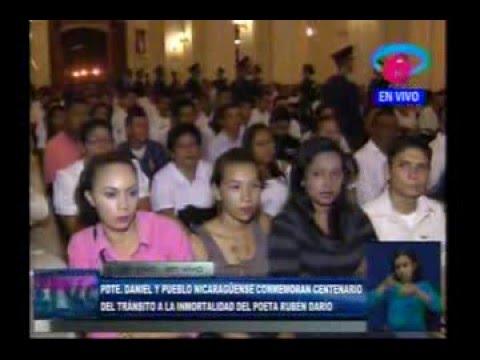 Daniel y Rosario participan en solemne ceremonia del centenario del Inmortal Rubén Darío