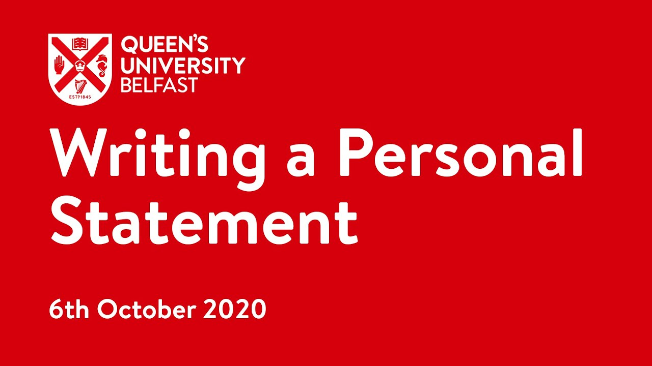 Video Thumbnail: Writing a Personal Statement