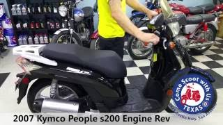 9. 2007 Kymco people s200 used scooter moped engine rev