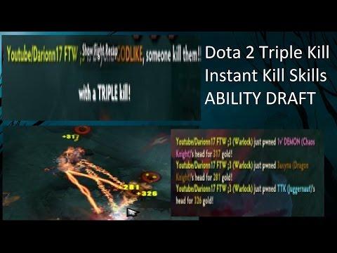 Dota 2 Ability Draft Triple Kill Instant Kill #2