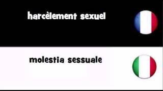 TRADUCTION EN 20 LANGUES = Harcèlement Sexuel