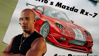 Nonton Toretto´s Mazda RX-7 [The Fast and the Furious/Fan Art] Car Drawing by Fast Art Film Subtitle Indonesia Streaming Movie Download