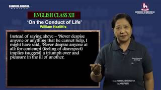 Unit 1 (i) Part 2 of 4 - On the Conduct of Life