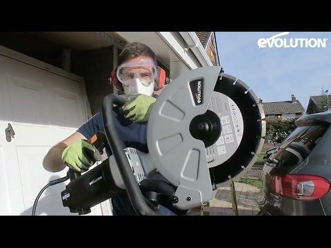 Evolution 305mm Disc Cutter: Garage door to window conversion!