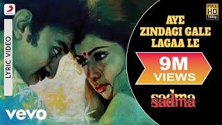Video Aye Zindagi Gale Lagaa Le - Lyric Video | Sadma | Kamal Hassan | Sridevi MP3, 3GP, MP4, WEBM, AVI, FLV Agustus 2018
