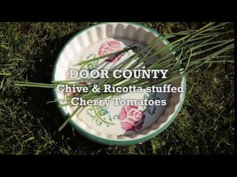 Savor Door County -  Chive and Ricotta Stuffed Cherry Tomatoes