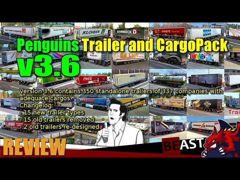 Penguins Trailer and CargoPack v3.6