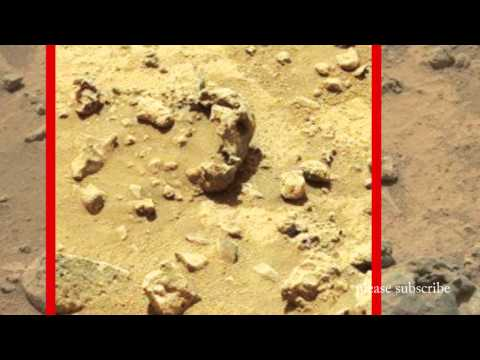 Mars Anomalies 2014, Alien Skull Buried In The Sand