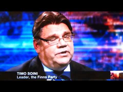 Timo Soini, leader of the Finns party, says his party is not racist [CAM] tekijä: ANTIFAxFINLAND