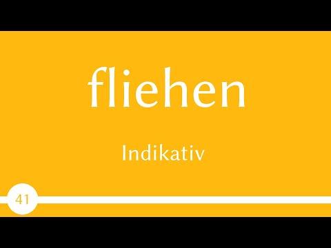 Verb - fliehen - Präsens, Präteritum, Perfekt - Konjugation (Verb 41) -