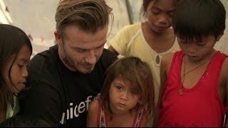 David Beckham Visits Children - Tacloban Philippines | UNICEF