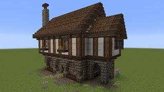 minecraft tutorial kleines haus mittelalterlich vidinfo. Black Bedroom Furniture Sets. Home Design Ideas