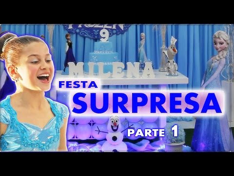 FESTA SURPRESA (PARTE 1) - Aniversário da Milena Stepanienco - 9 anos