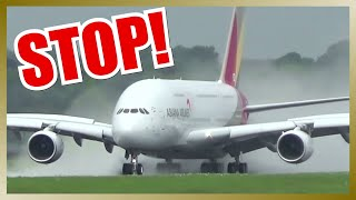 Video Amazing Rejected Takeoff of ASIANA AIRLINES A380 MP3, 3GP, MP4, WEBM, AVI, FLV Agustus 2018