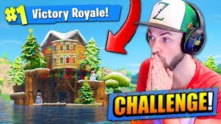 The 1 HOUSE CHALLENGE in Fortnite: Battle Royale!