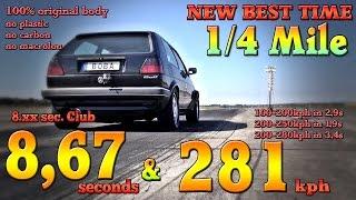 1233 km pod maską i jazda 300 km/h! Z tym Golfem 2 nikt nie ma szans!