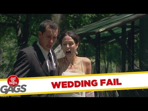 Bride and Groom Get Splashed - Youtube