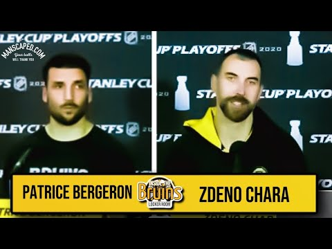 Zdeno Chara & Patrice Bergeron Postgame Interview | Bruins vs. Lightning Game 5 видео