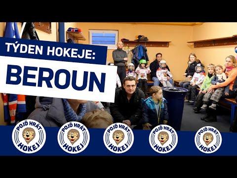 Týden hokeje v Berouně: Malé hokejisty vítal i mistr extraligy