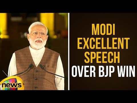 PM Modi Excellent Speech Over BJP Win In 2019 General Elections
