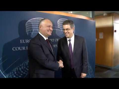 Президент Республики Молдова провел встречу с Председателем Европейского суда по правам человека