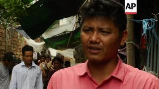 """(15 Jul 2017) LEADIN:Cambodia's rapid urban development is leaving some people behind. Nowhere is that clearer than in a community located along Phnom Penh's polluted canals that slice through the busy Cambodian capital.STORYLINE:Officially known as the """"Boueng Trabek Sewage Canal,"""" locals here have dubbed it the """"loo teuk saouy"""" or """"smelly water canal."""" Built between 1943 and 1958, it cuts through thirty city blocks, winding from Phnom Penh's city-centre to the southern outskirts.    Originally designed for a city of just 500,000, the capital's current population of over two million is putting severe strain on the canal. Modern materials, like plastic, which blocks drains and piles up behind bridges, compound the problem. At the southern end of the canal, known as Boeung Trabek, wooden and zinc shanty homes clutter the water's edge. The river of human waste and garbage bubbles up with a rancid odour from the hundreds of septic tanks and sewers that empty directly into it.Local organisations say the canal is a serious hazard to the community.But no official studies have been conducted on how the pollution affects people's health, says Soeung Saran from local NGO Sahmakum Teang Tnaul, which works to raise awareness of urban issues.""""No organisations, including my own, have studied the health effects on the people living here,"""" he says. """"However, we have plans for a major study on the issue next year because we know from talking to the people that there are lots of health problems here.""""The canals are a well-known breeding ground for mosquitoes.According to Soeung Saran, women and children are most at risk because they traditionally spend more time at home near the canal.""""The pollution affects the children the most because they stay in this area a lot and they play in the dirt,"""" he says. """"Women too because they stay here most of the time - the men only come back home at night. """"They suffer from lung infections, skin infections, eye infections - sometimes their eyes are"""