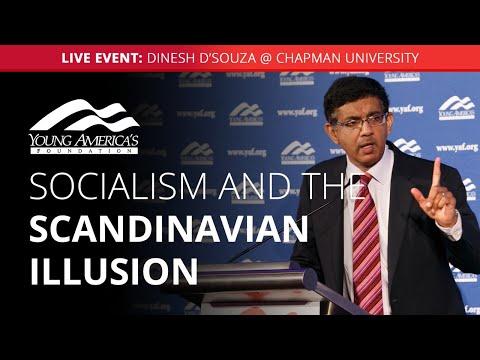 Socialism and the Scandinavian illusion   Dinesh D'Souza LIVE at Chapman University
