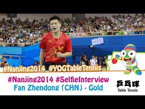#Nanjing2014 Selfie Interview – Fan Zhendong (Gold medal match)