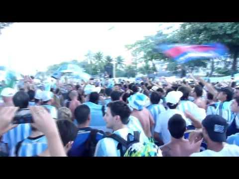 Video hinchada Argentina: Brasil decime que se siente