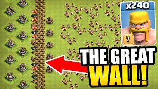"Video ""THE GREAT WALL OF CLASH OF CLANS!"" - INSANE TROLL BASE GAME PLAY! MP3, 3GP, MP4, WEBM, AVI, FLV Oktober 2017"