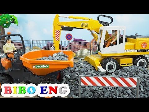Stone Excavator for Road Construction Vehicles Toys