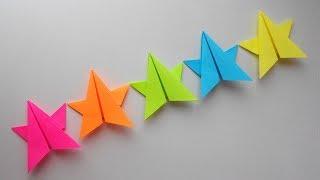 Гирлянда из бумаги. Оригами поделка на Новый Год 2018