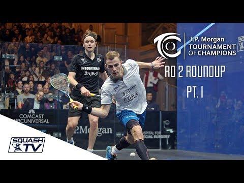 Squash: Tournament of Champions 2018 - Men's Rd 2 Roundup [Pt.1]
