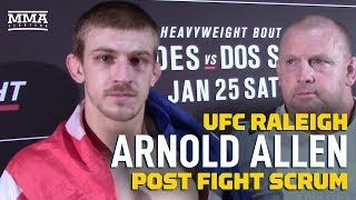 UFC Raleigh: Arnold Allen Says Nik Lentz Is 'Crazy' If He Thinks He Won Their Fight - MMA Fighting by MMA Fighting