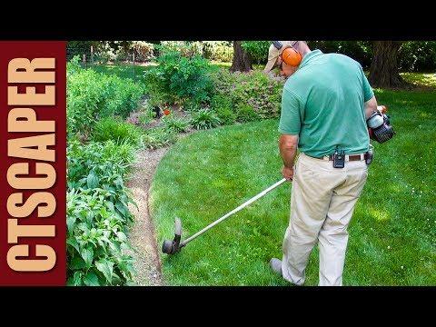 EDGING GARDENS with  WEEDWACKER   STRING TRIMMER (видео)