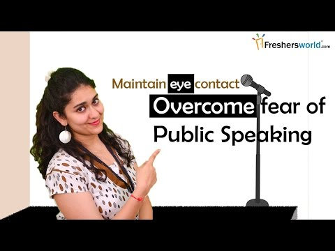 How to Overcome fear of Public Speaking ?