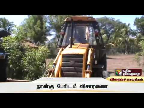 Four-tractors-and-poclain-equipment-used-for-smuggling-gravel-seized-near-Gopichettipalayam
