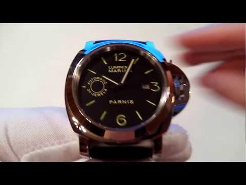 Обзор китайских часов Parnis хомаж на Панерай (видео)