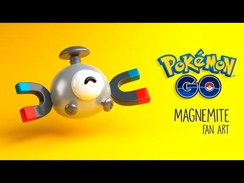Magnemite - Pokemon Go fan art (видео)
