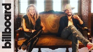 Shakira & Maluma Discuss Bringing Kids On Tour, Soccer & More! | Billboard