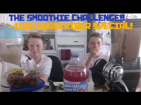 THE SMOOTHIE CHALLENGE!! (Target's 1000 Subscriber Challenge Video!)