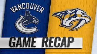 Sissons provides OT goal to lift Preds to 4-3 victory by NHL